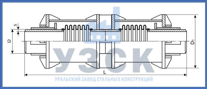 Чертёж компенсатора сильфонного 2КСО