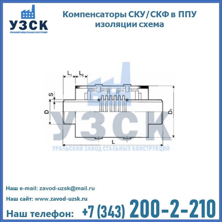 Компенсаторы СКУ в ППУ изоляции схема